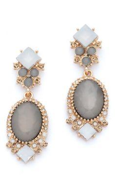 pretty crystal drop earrings