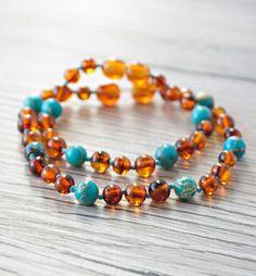 Amber Teething Necklace, Amber Bracelet, Beaded Bracelets, Necklaces, My Mom, Baby Blue, Jewelry, Self, Jewellery Making