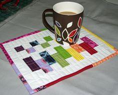 Mug Rug Madness / Tutorial #9 / Terri's Scrappy Color Block Mug Rug