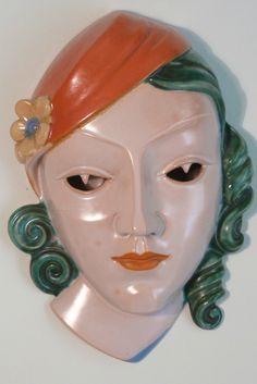 Art Deco Pottery Bust By Goldscheider Morgan Strickland