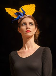 Dragon origami hat by Betsy Hatter. The Designers Shows at Norwich Fashion Week, held at Epic. Photo: Bill Smith