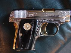 This is a rare Colt model 1908 Vest Pocket hammerless in 25 auto barrel,made in its now 91 years old,& never loo for sale by Bob Simpson on GunsAmerica - 968334139 Clearwater Florida, Water Buffalo, Business Checks, Girl Blog, Polished Nickel, Gold Accents, Firearms, Hand Guns, Horns
