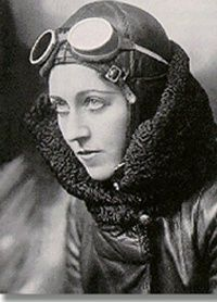 Amy Johnson, English aviator 1903-1941 One of the first women to gain a pilot's licence, Johnson won fame when she flew solo from Britain to Australia in 1930. Her dangerous flight took 17 days. Later she flew solo to India & Japan & became the first woman to fly across the Atlantic East to West, she volunteered to fly for The Women's Auxilialry Air Force in WW2, but her plane was shot down over the River Thames & she was killed.