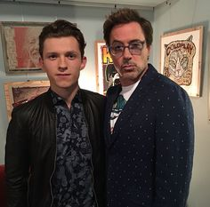 Tom Holland & Robert Downey Jr.
