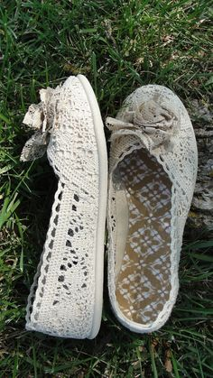 Boho lace gypsy shabby chic shoes by SummersBreeze on Etsy