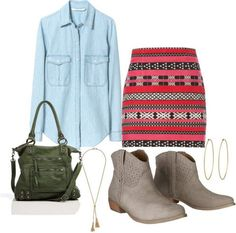Style Target ankle boots with an aztec printed skirt...more ideas here!