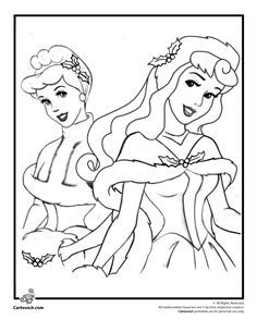Disney Christmas Coloring Pages Disney Princesses Christmas Coloring Page – Cartoon Jr.