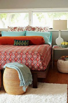 Comforter:  Not sure where this comforter is from but like the colors in it for your room.