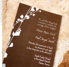 Brown Invitations from Wedding Paper divas
