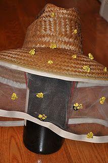 Bee Keeper Hat - DIY http://alittle-aboutalot.blogspot.com