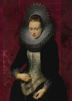 Peter Paul Rubens - Portrait of a young Woman with a Rosary (1609)