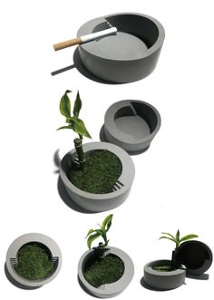 Handmade Concrete Succulent Planter Concrete Ashtray