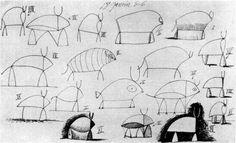 Bull (study) - Pablo Picasso