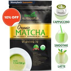 Organic Premium Ceremonial Grade for Sipping as Tea Organic Matcha, Organic Green Tea, Ceremonial Grade Matcha, Matcha Green Tea Powder, Body Systems, How To Increase Energy, Gourmet Recipes, Brewing, Latte