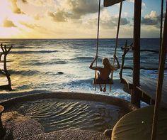 "864 Likes, 5 Comments - Bikinis & Travel (@bikinisonshow) on Instagram: ""Morning Bliss 🌴🌞 📷@zuzanastraska at @azuliktulum 💗"""