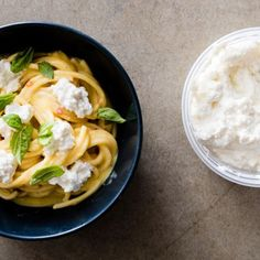 Creamy Corn Bucatini with Corn Ricotta and Basil - Cook's Science