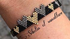 Görüntünün olası içeriği: mücevher Brick Stitch, Beaded Bracelets, Inspirational, Ring, Jewelry, Instagram, Bangle Bracelets, Blue Prints, Dish
