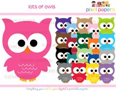 Owl clip art @Libby Slaughter (think you might have these already)