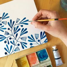 """9,635 Me gusta, 54 comentarios - Kirsten Sevig (@kirstensevig) en Instagram: """"I bought a new tube of blue paint to put into my watercolor set, and although this is mixed with…"""""""