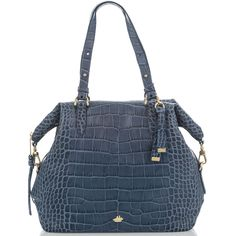 Delaney Tote Denim Savannah from Brahmin's Denim Collection Savannah Chat, Soft Leather, Shoulder Bag, Handbags, Zip, My Style, How To Wear, Blue, Denim