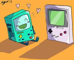 BMO with Gameboy!? Sólo se trata de encontrar alguien con las mismas locuras que tú piensas :3