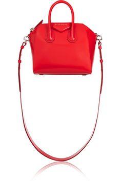 Givenchy Mini Antigona bag in red leather NET-A-PORTER.COM