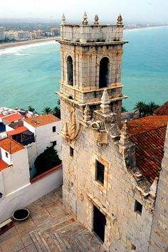 Belfry of the Church of Santa Maria, Peniscola, Castellon, Valencia, Spain Places In Spain, Oh The Places You'll Go, Places To Travel, Places To Visit, Valencia City, Moraira, Spain And Portugal, Kirchen, Spain Travel