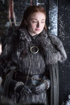 The Sansa outfit was killer...basically telling Littlefinger to fuck off. Can you imagine how great this would look with some knee-high matte leather boots?