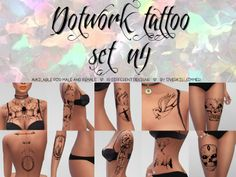 Overkill Simmer Dotwork Tattoo Set n 4 – Sims 4 Updates -♦- Sims 4 Finds & Sims 4 Must Haves -♦- Free Sims 4 Downloads