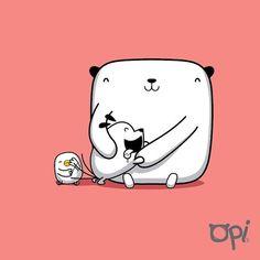 #opi #cute #kawaii #bear #oso #illustration #ilustración #dibujo