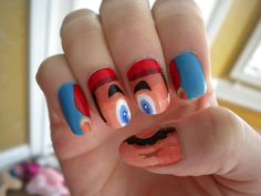 The best Mario Bros. nail art I've ever seen! WOW!