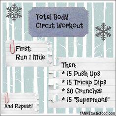 A fun total body circuit workout. Enjoy!