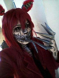 Nightmare Foxy Cosplay by HazyCosplayer Anime Cosplay, Epic Cosplay, Cosplay Makeup, Amazing Cosplay, Cosplay Outfits, Five Nights At Freddy's, Animatronic Fnaf, Foxy Costume, Fnaf Drawings