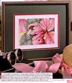 ♥Meus Gráficos De Ponto Cruz♥: Beija-Flor no Hibisco e Orquídeas em Vaso-Ponto Cruz