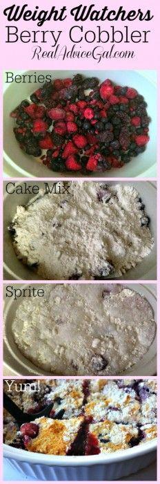 Weight Watchers Mixed Berry Cobbler Cake Recipe
