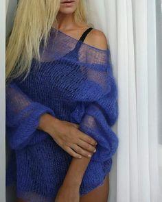 Нежнейшее вязание. Любимец модниц: джемпер-паутинка. | Вяжу для души | Яндекс Дзен Ssk In Knitting, Summer Knitting, Hand Knitting, Knitwear Fashion, Knit Fashion, Finger Crochet, Knit Crochet, Sacs Louis Vuiton, Barbie Mode
