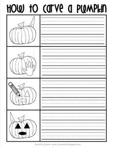 How to Carve a Pumpkin Writing Sheet FREEBIE by C&C Teach First:  www.ccteachfirst.blogspot.com