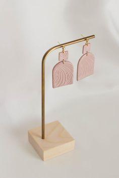 Art deco powder pink earrings Statement modern lightweight | Etsy Pink Earrings, Statement Earrings, Powder Pink, Beautiful Gift Boxes, Earrings Handmade, Silver Plate, Jewelry Box, Polymer Clay, Art Deco