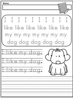 Handwriting Practice: Simple Sentences