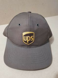 ed1e84fa240 Vintage 90s UPS United Parcel Service Old Logo Employee Hat Brown Made in  USA  fashion