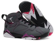 """100% authentic ca6ec 3783d Find Girls Air Jordan 7 """"Valentines Day"""" Dark Grey White-Black-Fuchsia Flash  For Sale online or in Pumarihanna. Shop Top Brands and the latest styles  Girls ..."""