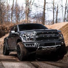 Black Ford Raptor, Ford Raptor Truck, Ford Ranger Raptor, Lifted Ford Trucks, Cool Trucks, Pickup Trucks, Ranger Car, Badass Jeep, Ford Motor Company