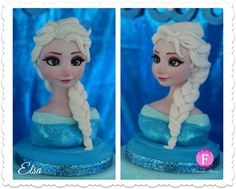 Elsa Fondant Sculpture by Fernanda Abarca Cakes, California, USA.  You'll find this Cake Appreciation Society Member in our Directory at www.cakeappreciationsociety.com