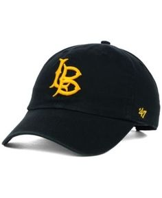 '47 Brand Long Beach State 49ers Ncaa Clean-Up Cap - Black Adjustable