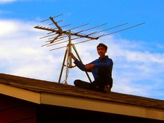 The New Age of Television arrives! With digital modulation, pictures are sharper than ever and the number of receivable stations has quintupled! Here, I install the rooftop television antenna in 2009.