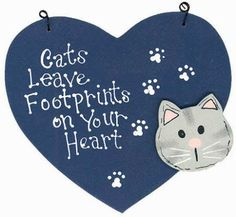Cats Leave Footprints on Your Heart .......... 🐾🐾🐾🐾🐾🐾🐾🐾