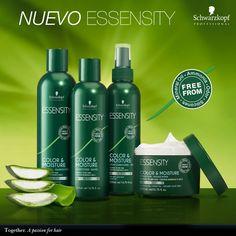¿Tu cabello parece seco y quebradizo? Prueba el nuevo Color & Moisture de ESSENSITY con aloe vera orgánico y té verde que proporcionan una hidratación intensiva. #apassionforhair