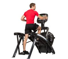 Cybex Arc Trainer 525AT.  Arc Trainers are aptly named since they allow for an arc/crescent shaped pattern of lower body movement. An advanced, non-impact, resisted cardio device, the 525AT delivers 21 incline levels, various built in weight loss, power and cardio workouts, plus wireless heart-rate monitoring.