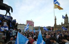 George Square Glasgow: Rally of Yes voters the day before the vote