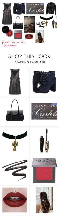 """""""For musicfreakofnature (friend) - musicfreakofnature's ideal wardrobe by me: French restaurant!"""" by sarah-m-smith ❤ liked on Polyvore featuring Maje, Christian Lacroix, Concrete Minerals, L'Oréal Paris and Urban Decay"""